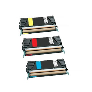 3PK Compatible C734A4CG C734A4MG C734A4YG Toner Cartridge For Lexmark C734 C734N C734DN C734DTN C734DW ( Pack of 3 )