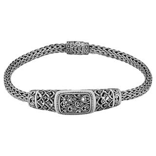 """Sterling Silver Rain Forest 7.5"""" Long Cawi Bracelet (Indonesia) https://ak1.ostkcdn.com/images/products/11992477/P18872355.jpg?impolicy=medium"""