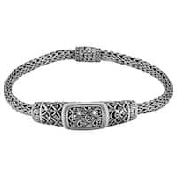 """Handmade Sterling Silver Rain Forest 7.5"""" Bracelet (Indonesia)"""