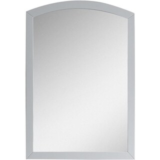 21.65-in. W x 31.5-in. H Modern Birch Wood-Veneer Wood Mirror In White