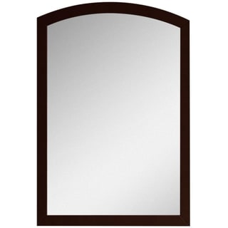 21.65-in. W x 31.5-in. H Modern Birch Wood-Veneer Wood Mirror In Coffee