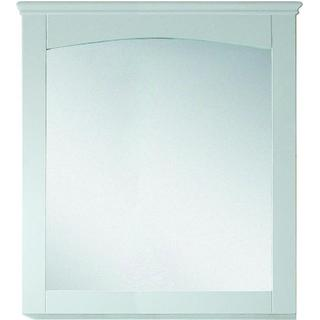 30-in. W x 31.5-in. H Modern Plywood-Veneer Wood Mirror In White