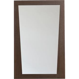 21.5-in. W x 33.5-in. H Modern Plywood-Melamine Wood Mirror In Wenge