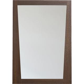 23.5-in. W x 33.5-in. H Modern Plywood-Melamine Wood Mirror In Wenge