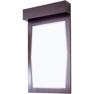 23-in. W x 34-in. H Transitional Birch Wood-Veneer Wood Mirror In Walnut