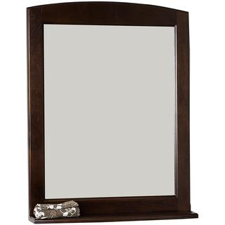 24-in. W x 32-in. H Traditional Birch Wood-Veneer Wood Mirror In Walnut