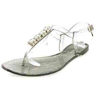 Steve Madden Women's Sheera Grey Rubber Slingback Sandals