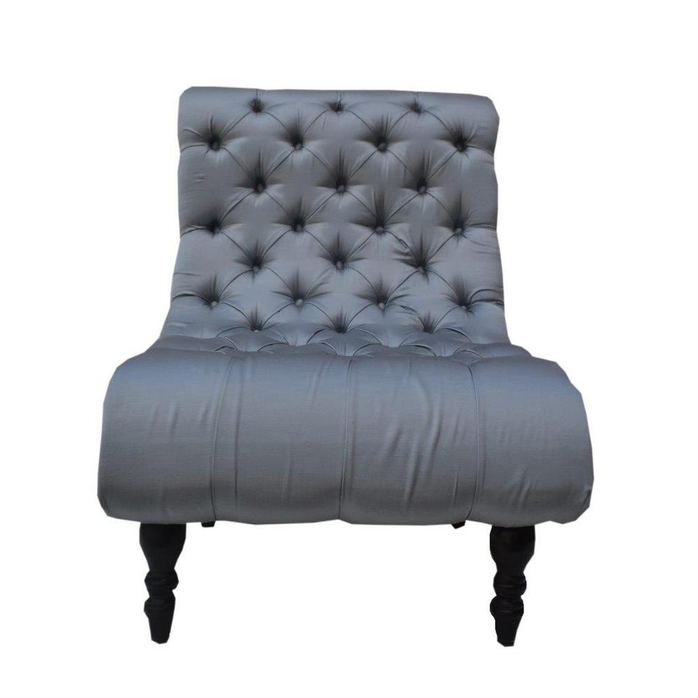Park Avenue Living Buckingham Estate Slate/Light Blue Wood and Fabric 30-inch Chair (30 inch Buckingham Estate Slate/ Light Blue Chair)