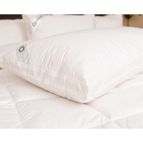 Downia White Goose Down Double Surround 330-thread Count Pillow