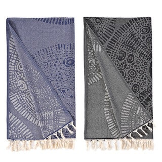 Authentic Pestemal Fouta Anna Jacquard Turkish Cotton Bath/ Beach Towel
