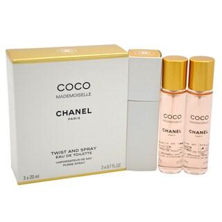 Chanel Coco Mademoiselle Women's 3 x 0.7-ounce Eau de Toilette Purse Spray (2 Refills)