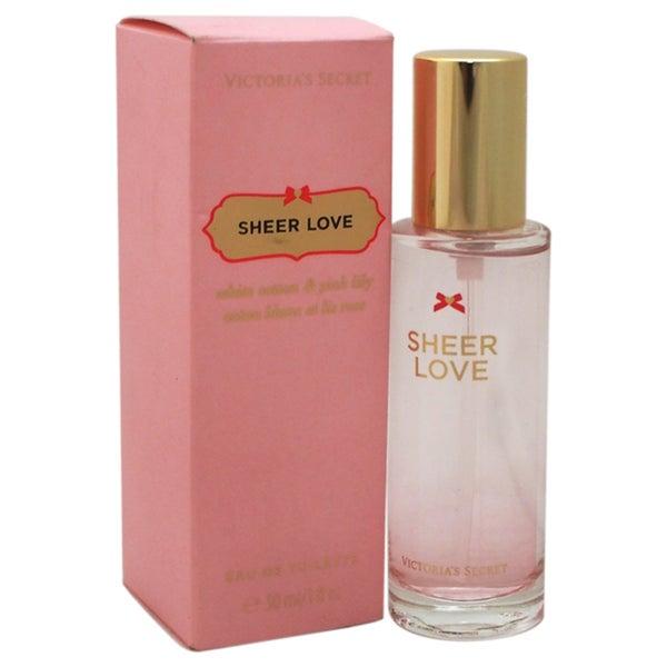 4ef4da6bfb Shop Victoria s Secret Sheer Love Women s 1-ounce Eau de Toilette Spray -  Free Shipping On Orders Over  45 - Overstock - 11992726