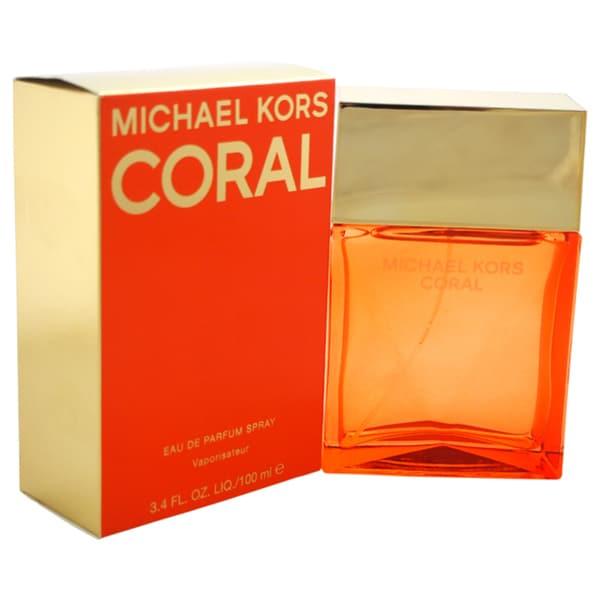 771bc2b1cf16 Shop Michael Kors Coral Women s 3.4-ounce Eau de Parfum Spray - Free  Shipping Today - Overstock - 11992743
