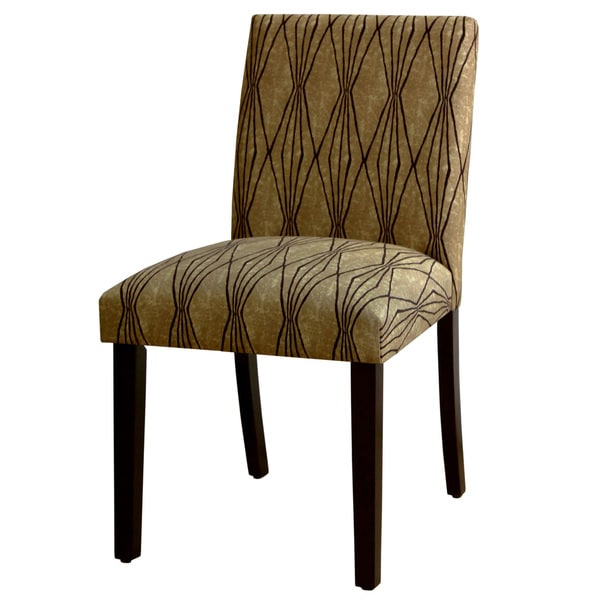 Skyline Furniture Espresso Hand Shapes Flax Polyester Polyurethane Rubberwood Uptown Dining Chair