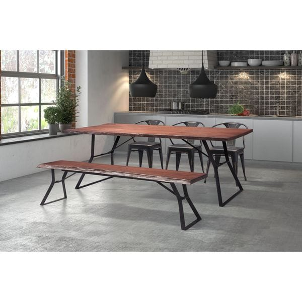 Kitchen Table Omaha: Shop Omaha Distressed Cherry Oak Dining Table With Metal