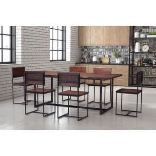 Zuo Papillion Distressed Cherry Oak Dining Table