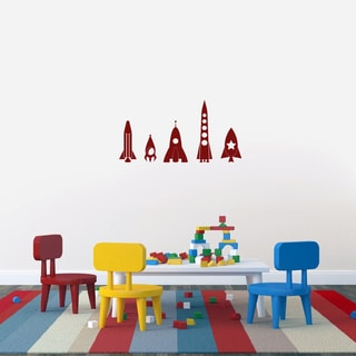Rocket Ship Set Small Vinyl Wall Decals