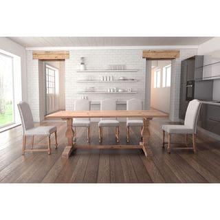 Zuo Norfolk Natural Beige Fir Wood Dining Table
