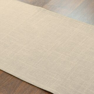 Circa Barley Tan Linen/Polyester 12.5-inch x 72-inch Solid Runner