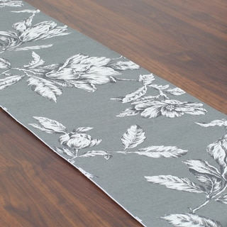 Antebellum Graphite Black/Off-white Cotton/Polyester 12.5-inch x 72-inch Runner