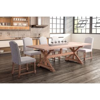 Zuo Alliance Natural Fir Wood 94.5-inch Rectangular Dining Table