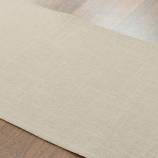 Jefferson Driftwood Tan Linen/Polyester 12.5-inch x 72-inch Runner
