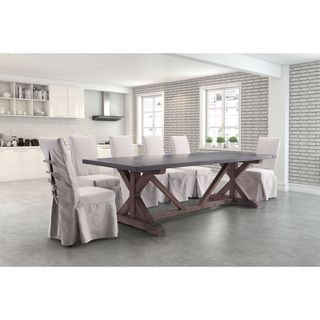 Zuo Durham Distressed Grey Fir Wood Dining Table