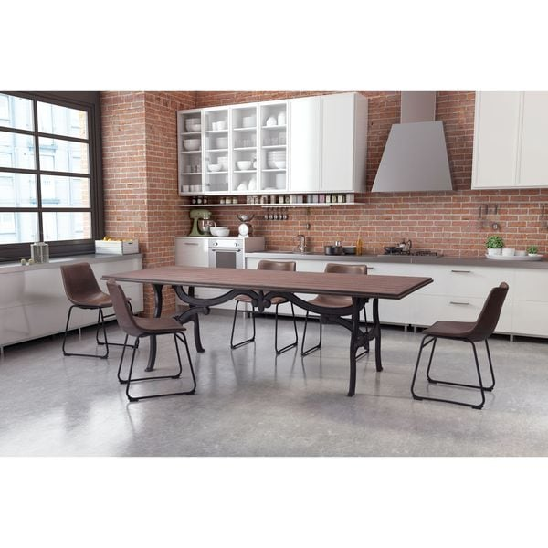 Bellevue Distressed Black Wood Metal Dining Table Free Shipping Today Ove