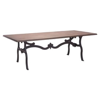 Bellevue Distressed/Black Wood/Metal Dining Table