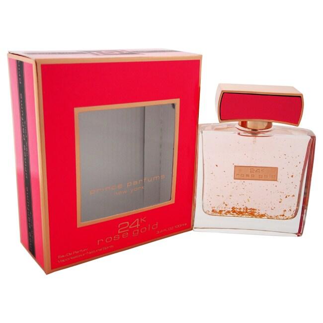 Prince Parfums 24K Rose Gold Women's 3.4-ounce Eau de Par...