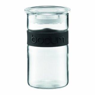 Bodum Presso Black Glass 8-ounce Storage Jar