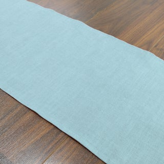 Circa Solid Aquamarine Linen/Polyester 12.5-inch x 72-inch Runner