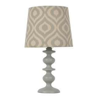 Jay Hunt and Company Grey Resin Geo Print Shade Table Lamp
