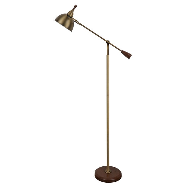 j hunt and company gold/brown steel 65-inch floor lamp - free