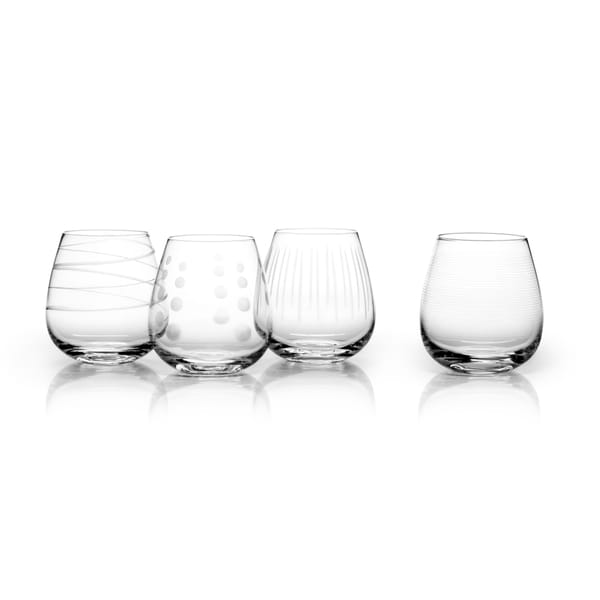 7f4466efa84 Shop Mikasa Cheers Glass Set of Four Stemless Wine Glasses - Free Shipping  On Orders Over $45 - Overstock - 11992940
