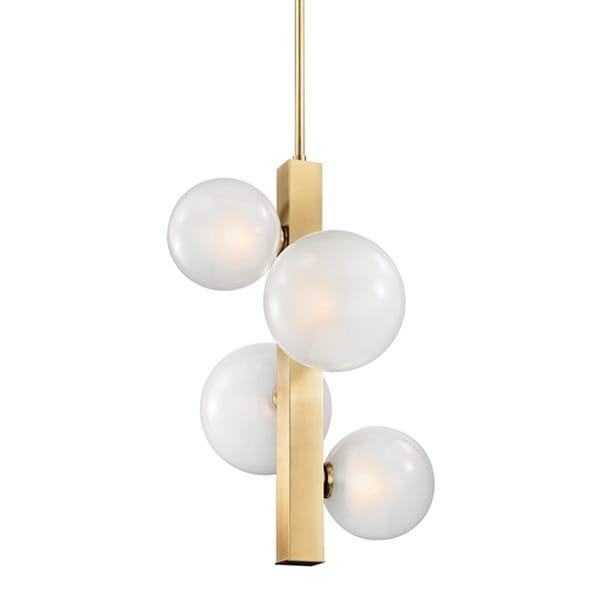 Hudson Valley Lighting Mini Hinsdale: Shop Hudson Valley Hinsdale 4 Light Aged Brass Pendant