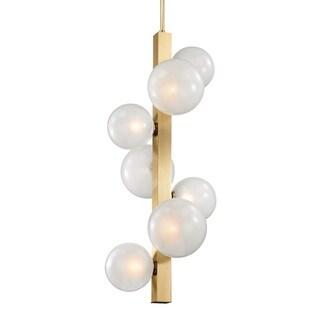 Hudson Valley Hinsdale 7 Light Aged Brass Pendant