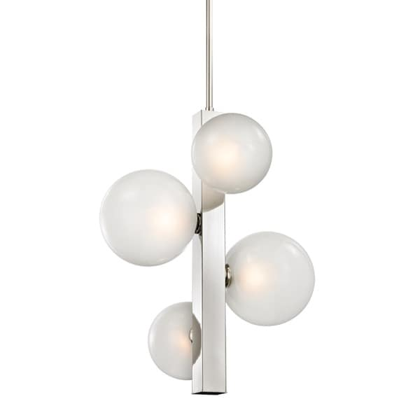 Hudson Valley Hinsdale 4 Light Polished Nickel Pendant