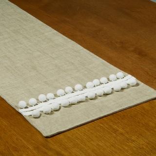 Jefferson Tan Linen/Polyester 12.5-inch x 54-inch Driftwood Runner