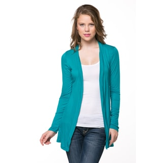 Lace-Back Open Cardigan