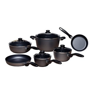 Swiss Diamond Ultimate Kitchen Black Aluminum 10-piece Cookware Set