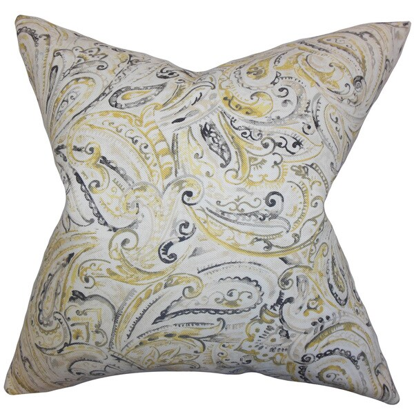 Mirren Paisley Throw Pillow Cover