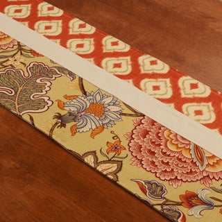 Meadowlark Clay Pieced Multicolored Cotton and Polyester 15-inch x 54-inch Table Runner