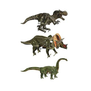 Smithsonian 6-inch x 5-inch x 4-inch 3D Motorized Dinosaur Puzzle (Pack of 3)|https://ak1.ostkcdn.com/images/products/11993145/P18872956.jpg?impolicy=medium
