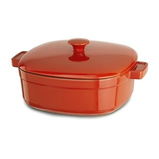 KitchenAid KCLI60CRAU Streamline Autumn Glimmer Orang Cast Iron/Porcelain 6-quart Casserole Cookware