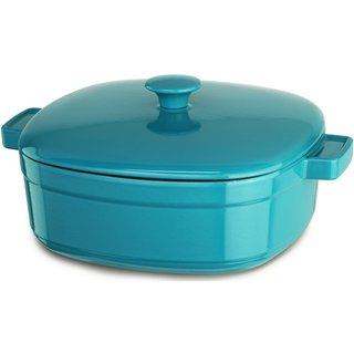 KitchenAid KCLI60CRCC Streamline Curacao Blue Cast Iron 6-quart Casserole Cookware