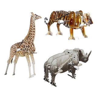 Smithsonian 3D Motorized Safari Animal B Puzzles (Pack of 3)