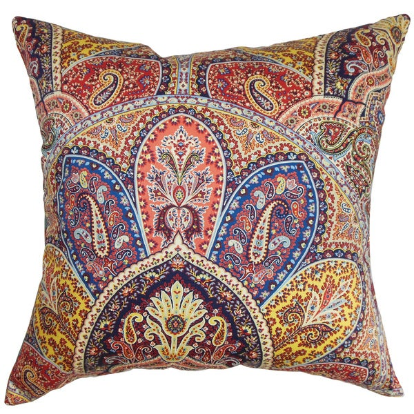 Lehana Paisley Throw Pillow Cover