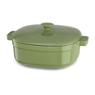 KitchenAid KCLI60CRKI Streamline Kiwi Cast Iron 6-quart Casserole Cookware