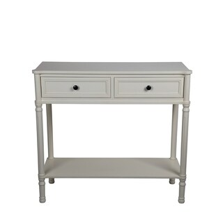 Privilege Antique White Wood Transitional 2-drawer Console Table